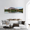 Rundle Mountain In Banff Park Panoramic Canvas Wall Art Tiaracle