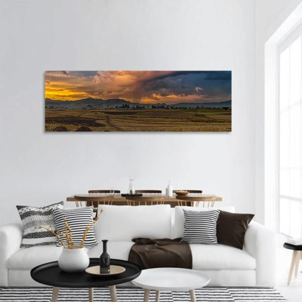 Rural Landscape Of Ethiopia Panoramic Canvas Wall Art Tiaracle