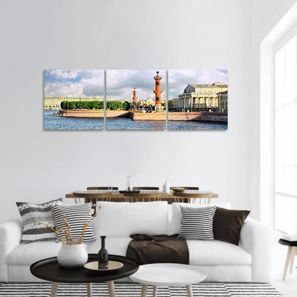 Saint Petersburg View Panoramic Canvas Wall Art 1 Piece / Small Tiaracle