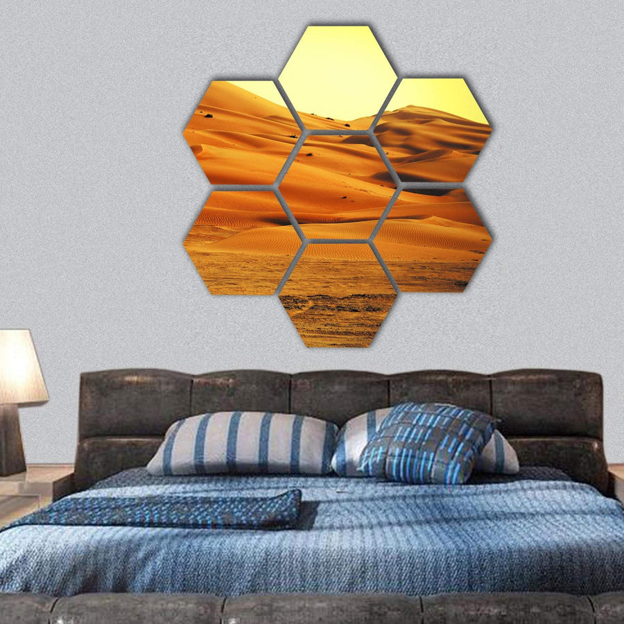 Sand Dune Formations Hexagonal Canvas Wall Art 1 Hexa / Small / Gallery Wrap Tiaracle