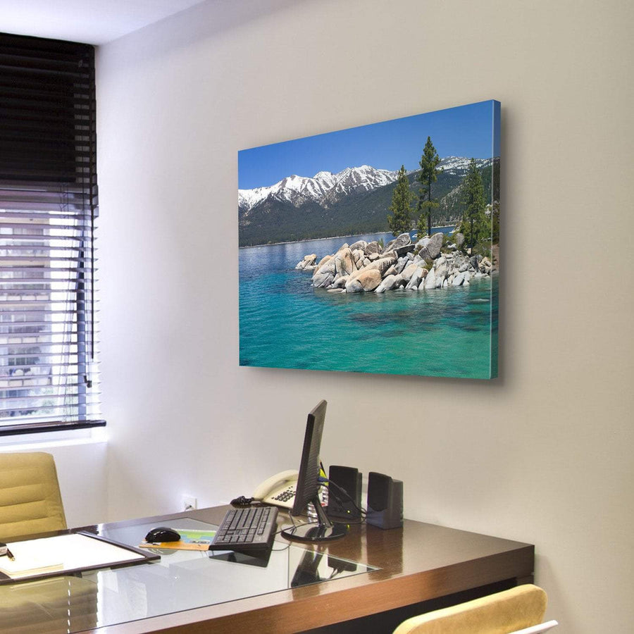 Sand Harbor, Lake Tahoe  Canvas Panel Painting Tiaracle