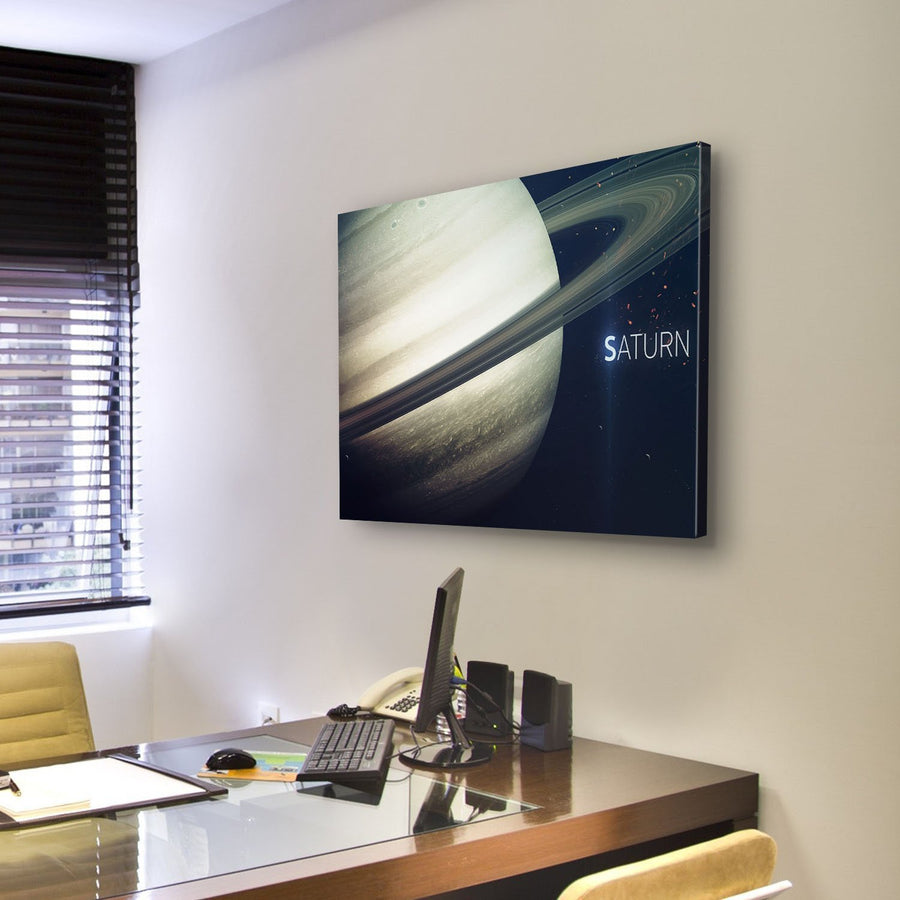 Saturn With Its Rings Canvas Panel Painting Tiaracle