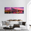 Scenery Of Nashville Skyline With Boat Panoramic Canvas Wall Art Tiaracle