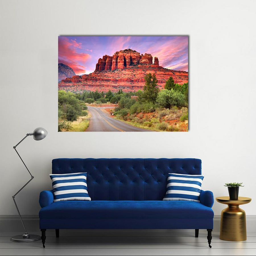 Scenic Drive Through Sedona Arizona Multi Panel Canvas Wall Art 5 Pieces(B) / Medium / Canvas Tiaracle