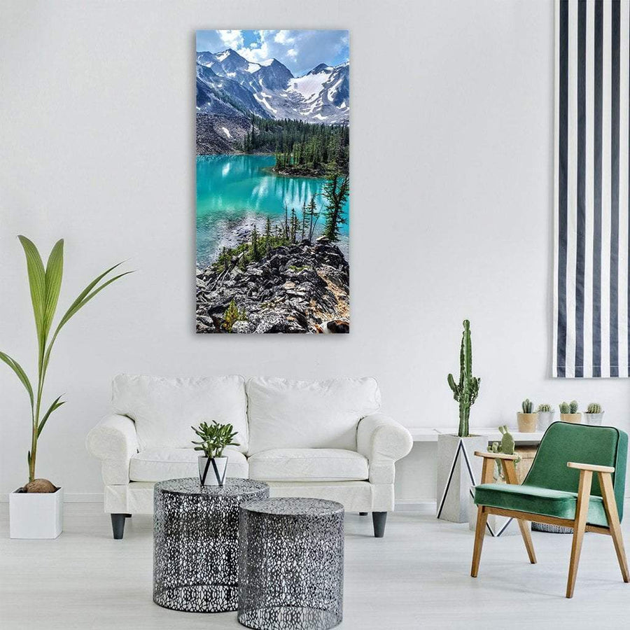 Scenic Lake Tahoe Vertical Canvas Wall Art 3 Vertical / Small / Gallery Wrap Tiaracle