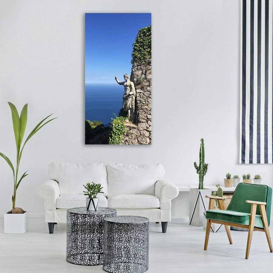 Sea View In Capri Italy Vertical Canvas Wall Art 3 Vertical / Small / Gallery Wrap Tiaracle