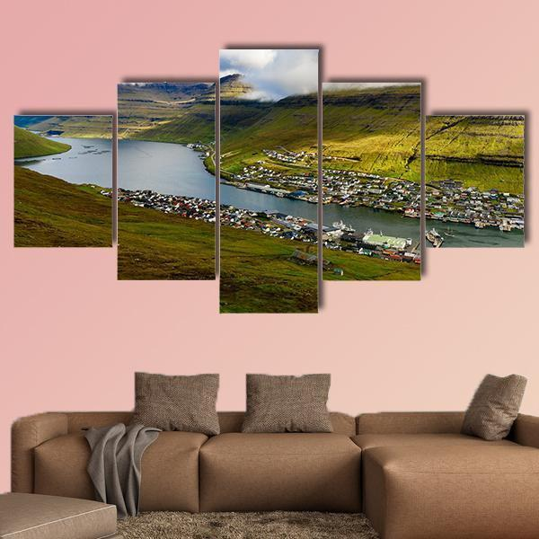 Bordoy Island In The North-East Of The Faroe Islands Multi Panel Canvas Wall Art 4 Pieces / Medium / Canvas Tiaracle
