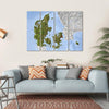 Shaded Relief Map, Denmark Multi Panel Canvas Wall Art 4 Horizontal / Small / Gallery Wrap Tiaracle