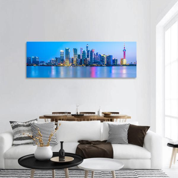 Shanghai Landscape Panoramic Canvas Wall Art Tiaracle