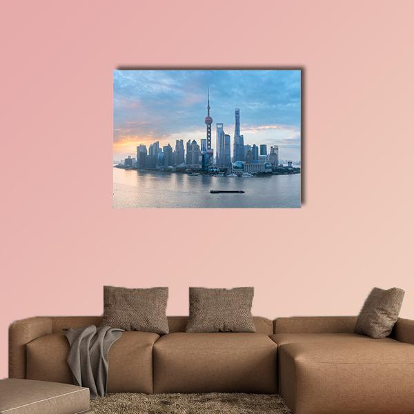 Shanghai Skyline Of Lujiazui Multi Panel Canvas Wall Art 5 Pieces(A) / Medium / Canvas Tiaracle