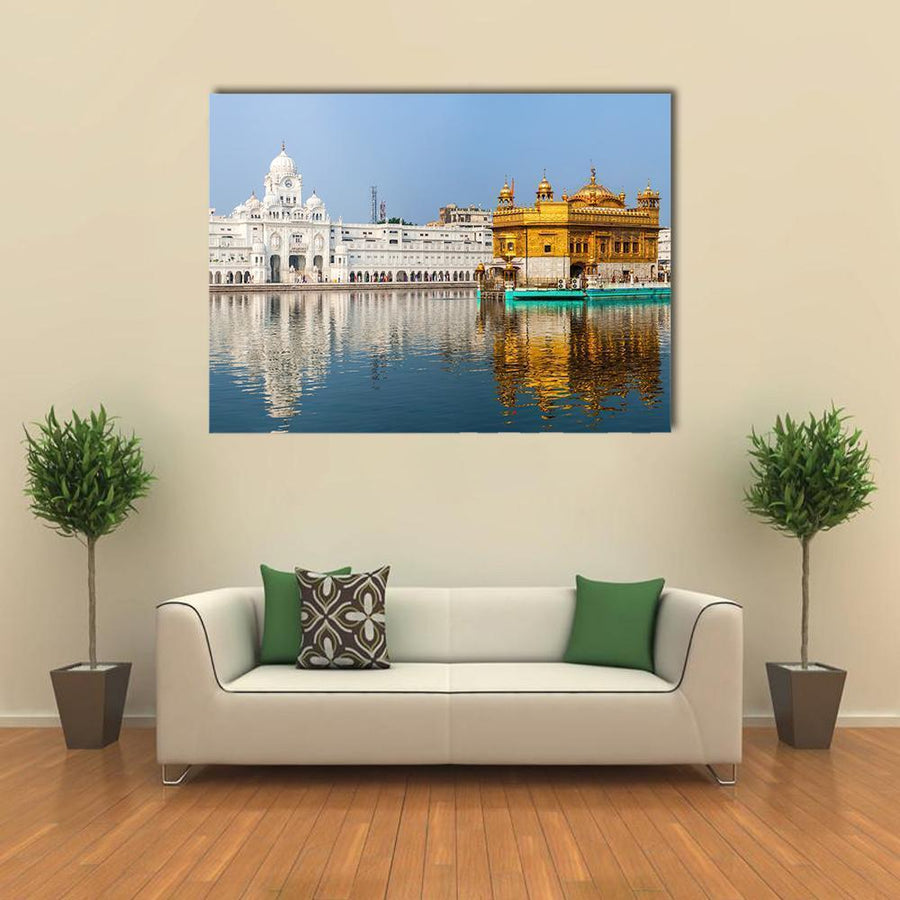 Sikh Gurdwara Golden Temple In India Multi Panel Canvas Wall Art-4 Horizontal-Small-Gallery Wrap-Tiaracle