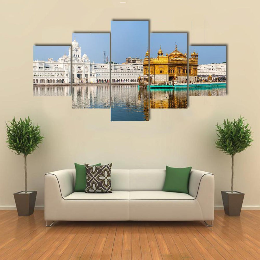 Sikh Gurdwara Golden Temple In India Canvas Panel Painting Tiaracle
