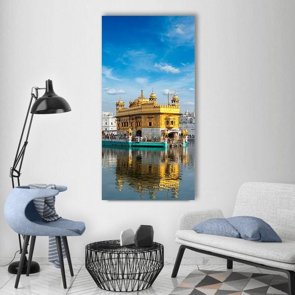 Sikh Gurdwara Golden Temple Vertical Canvas Wall Art 3 Vertical / Small / Gallery Wrap Tiaracle