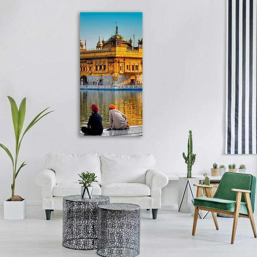 Sikh Religious Temple In Amritsar Punjab Vertical Canvas Wall Art 3 Vertical / Small / Gallery Wrap Tiaracle