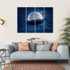 Silhouette Of A Whale Canvas Wall Art-4 Horizontal-Small-Gallery Wrap-Tiaracle