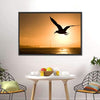 Silhouette Of Eagle Multi Panel Canvas Wall Art-Tiaracle