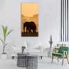 Silhouette Of Elephant Vertical Canvas Wall Art 1 Vertical / Small / Gallery Wrap Tiaracle