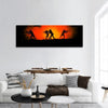 Silhouettes Of Soldiers Panoramic Canvas Wall Art 1 Piece / Small Tiaracle