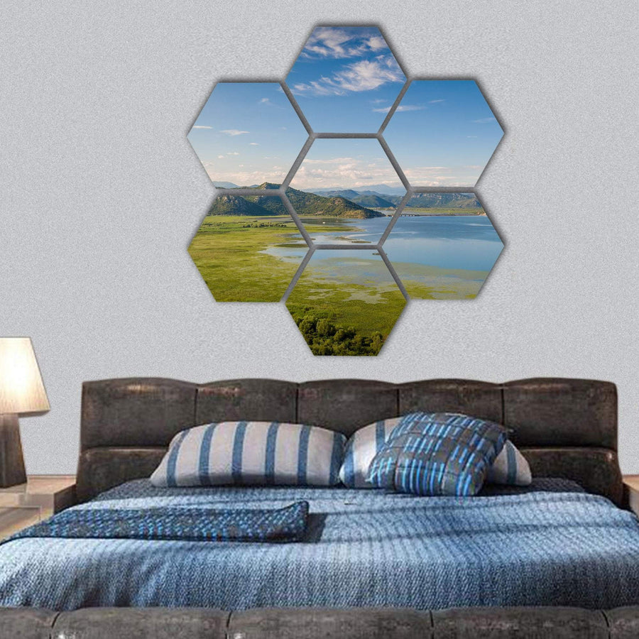 Skadar Lake In Montenegro Hexagonal Canvas Wall Art Tiaracle