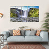 Skogafoss Waterfall In Iceland Multi Panel Canvas Wall Art-5 Horizontal-Small-Gallery Wrap-Tiaracle