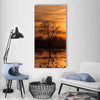 Sky Over Sea At Sunset Vertical Canvas Wall Art-1 Vertical-Small-Gallery Wrap-Tiaracle