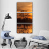Sky Over Sea At Sunset Vertical Canvas Wall Art-3 Vertical-Small-Gallery Wrap-Tiaracle