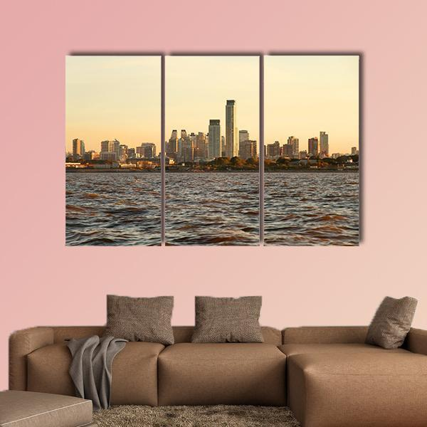 Skyline Of Buenos Aires Argentina Multi Panel Canvas Wall Art 5 Pop / Medium / Canvas Tiaracle