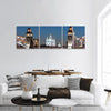 Smolny Cathedral In Russia Panoramic Canvas Wall Art 3 Piece / Small Tiaracle