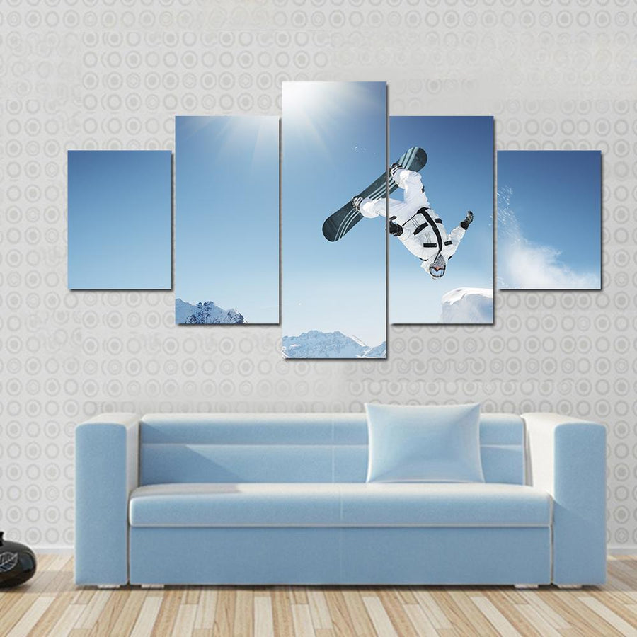 Snowboard Jump Canvas Panel Painting Tiaracle