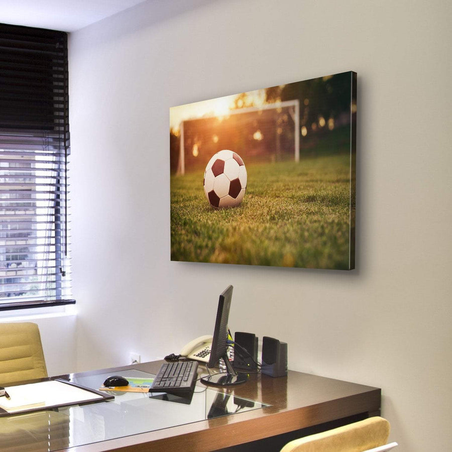 Football In The Sunset Canvas Panel Painting Tiaracle