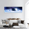 Space Planets And Nebula Panoramic Canvas Wall Art 1 Piece / Small Tiaracle