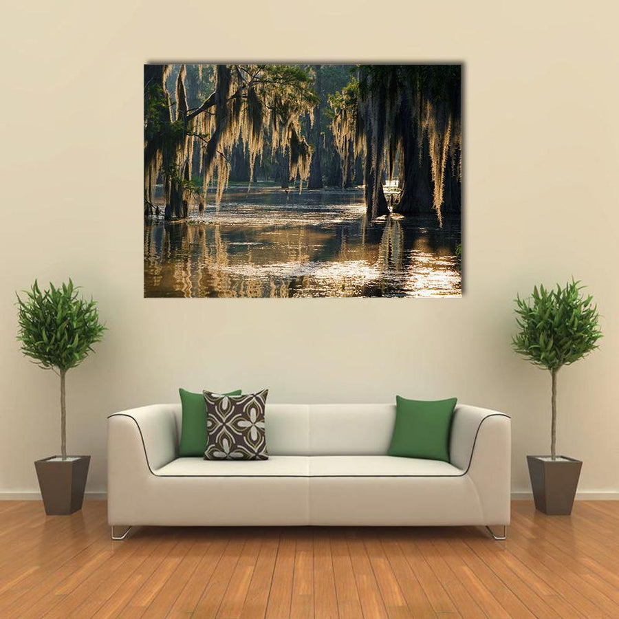 Spanish Moss In The Louisiana Bayou Multi Panel Canvas Wall Art 5 Pieces(A) / Medium / Canvas Tiaracle