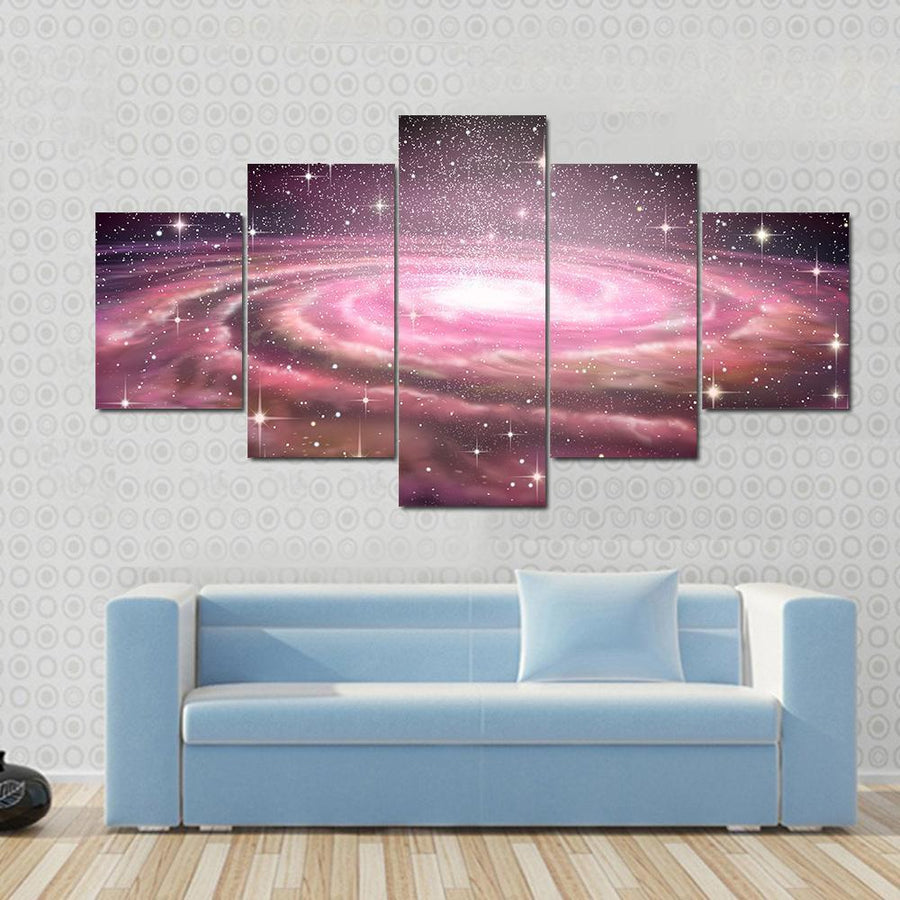 Spiral Galaxy In Deep Space Canvas Panel Painting Tiaracle