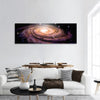 Spiral Galaxy In Deep Space Panoramic Canvas Wall Art 1 Piece / Small Tiaracle
