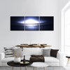 Spiral Galaxy In Deep Space Panoramic Canvas Wall Art Tiaracle