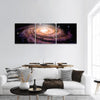Spiral Galaxy In Deep Space Panoramic Canvas Wall Art 3 Piece / Small Tiaracle