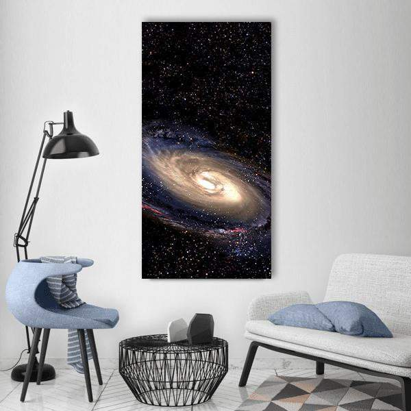 Spiral Galaxy In Space Vertical Canvas Wall Art 3 Vertical / Small / Gallery Wrap Tiaracle