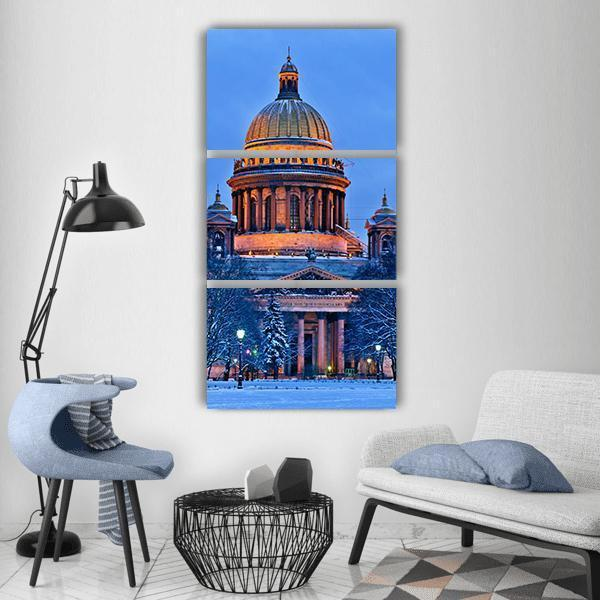 St Isaac Cathedral In Saint Petersburg Vertical Canvas Wall Art 1 Vertical / Small / Gallery Wrap Tiaracle