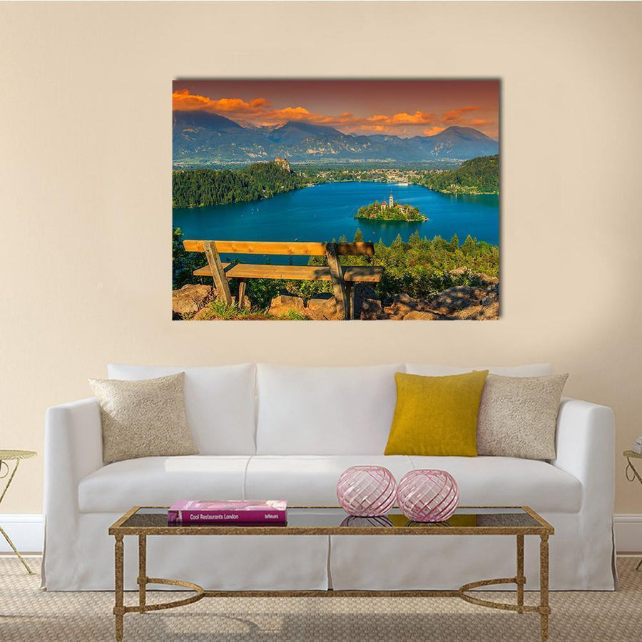 St Mary's Church In Lake Bled Canvas Wall Art-4 Horizontal-Small-Gallery Wrap-Tiaracle