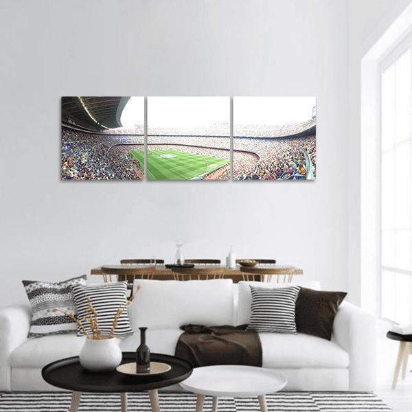 Stadium Camp In Barcelona Panoramic Canvas Wall Art Tiaracle
