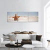 Starfish On Caribbean Sandy Beach Panoramic Canvas Wall Art 3 Piece / Small Tiaracle