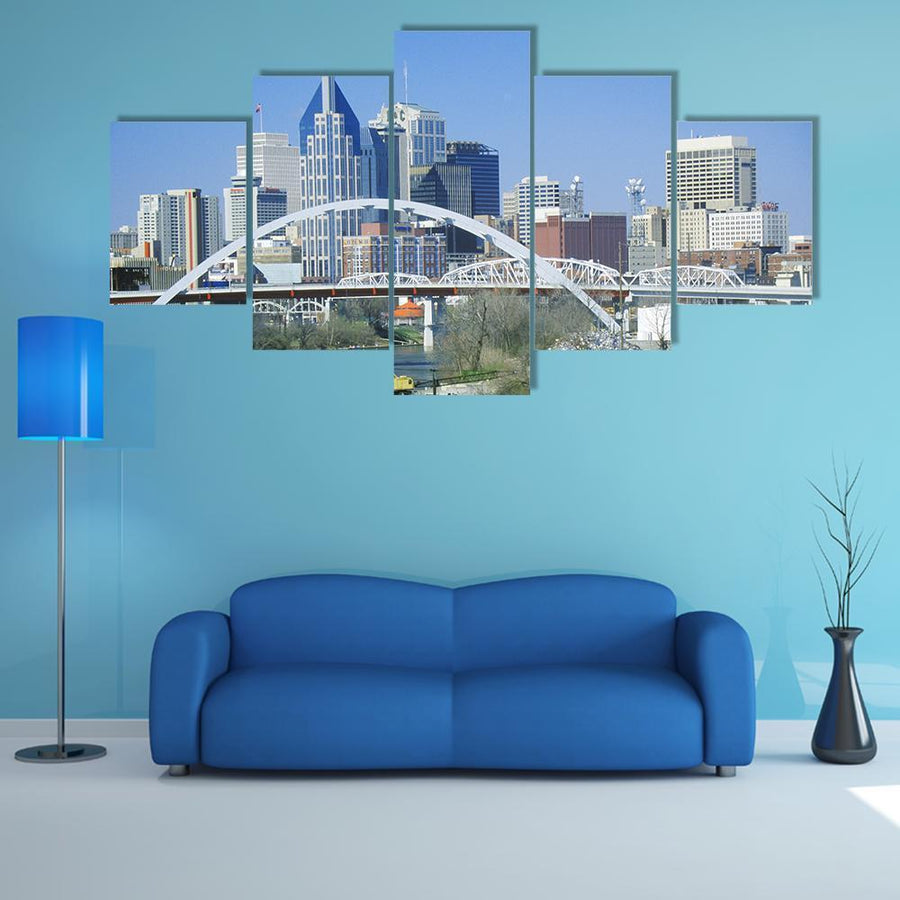 State Capitol Skyline Multi Panel Canvas Wall Art 1 Piece / Medium / Canvas Tiaracle