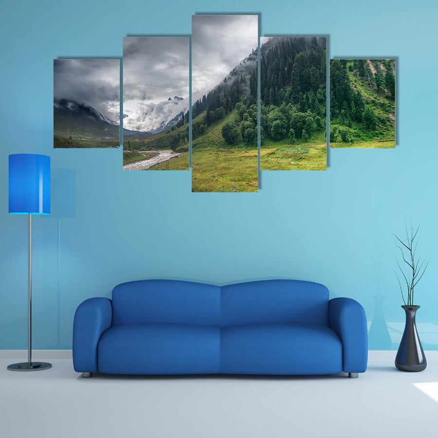 Storm Clouds Over Mountains Of Ladakh Multi Panel Canvas Wall Art 3 Pieces / Medium / Canvas Tiaracle