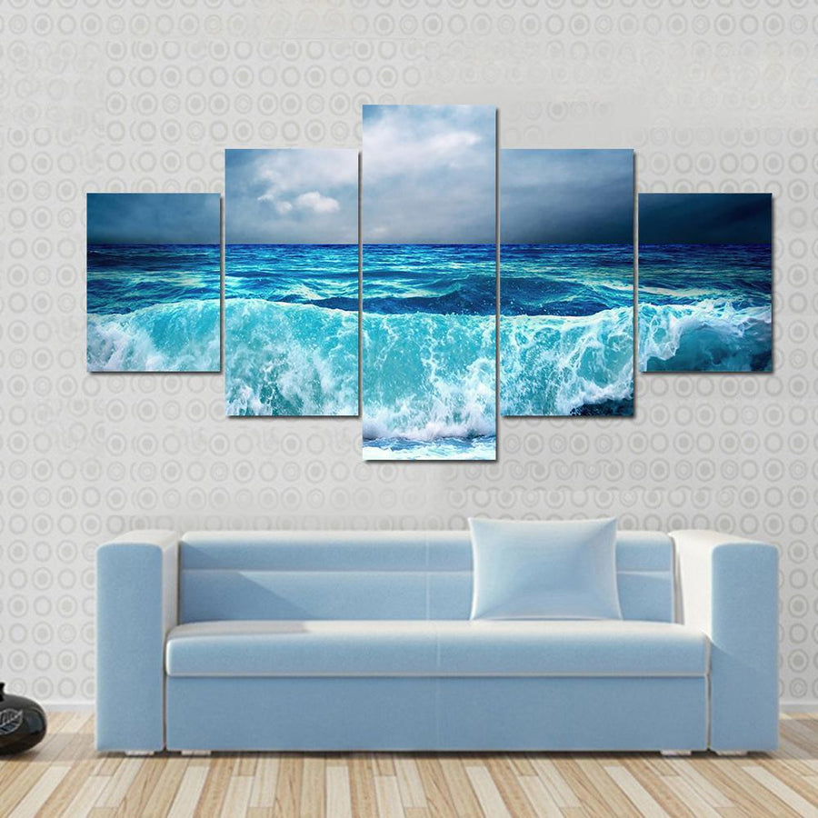 Strong Storm Seascape Canvas Panel Painting Tiaracle