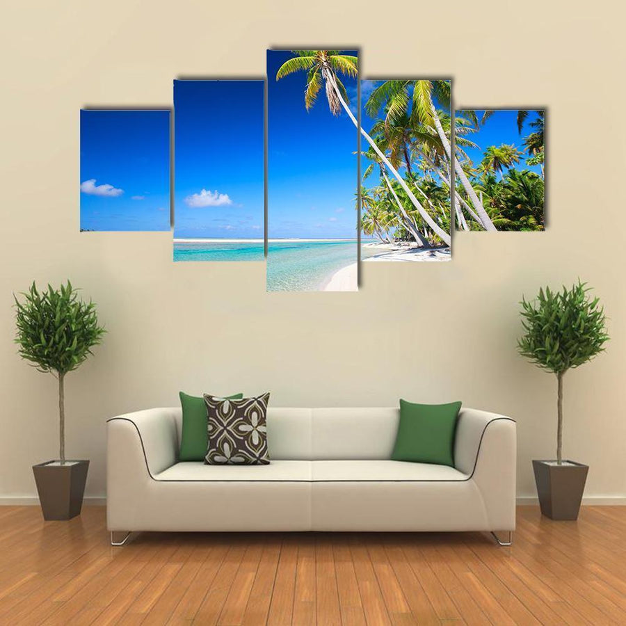 Stunning Beach In French Polynesia  Multi Panel Canvas Wall Art 3 Pieces / Medium / Canvas Tiaracle