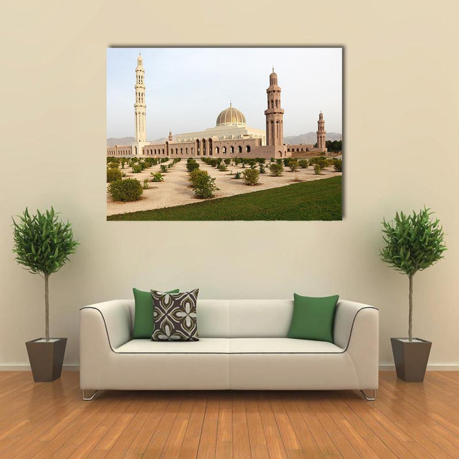 Sultan Qaboos Grand Mosque, Muscat Multi Panel Canvas Wall Art 4 Horizontal / Small / Gallery Wrap Tiaracle