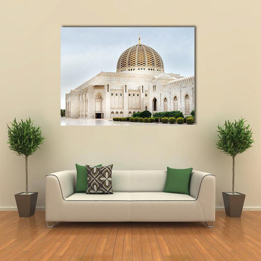 Grand Sultan Qaboos Mosque In Muscat Multi Panel Canvas Wall Art 3 Pieces / Medium / Canvas Tiaracle
