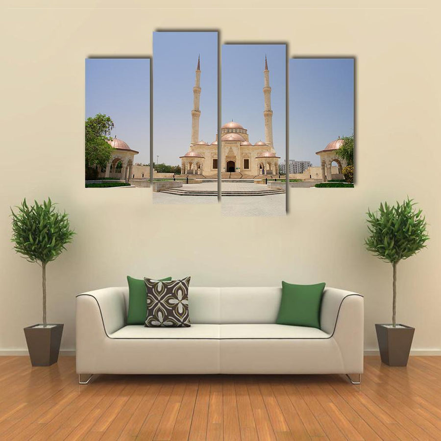 Sultan Taymoor Grand Mosque Multi Panel Canvas Wall Art 1 Piece / Medium / Canvas Tiaracle
