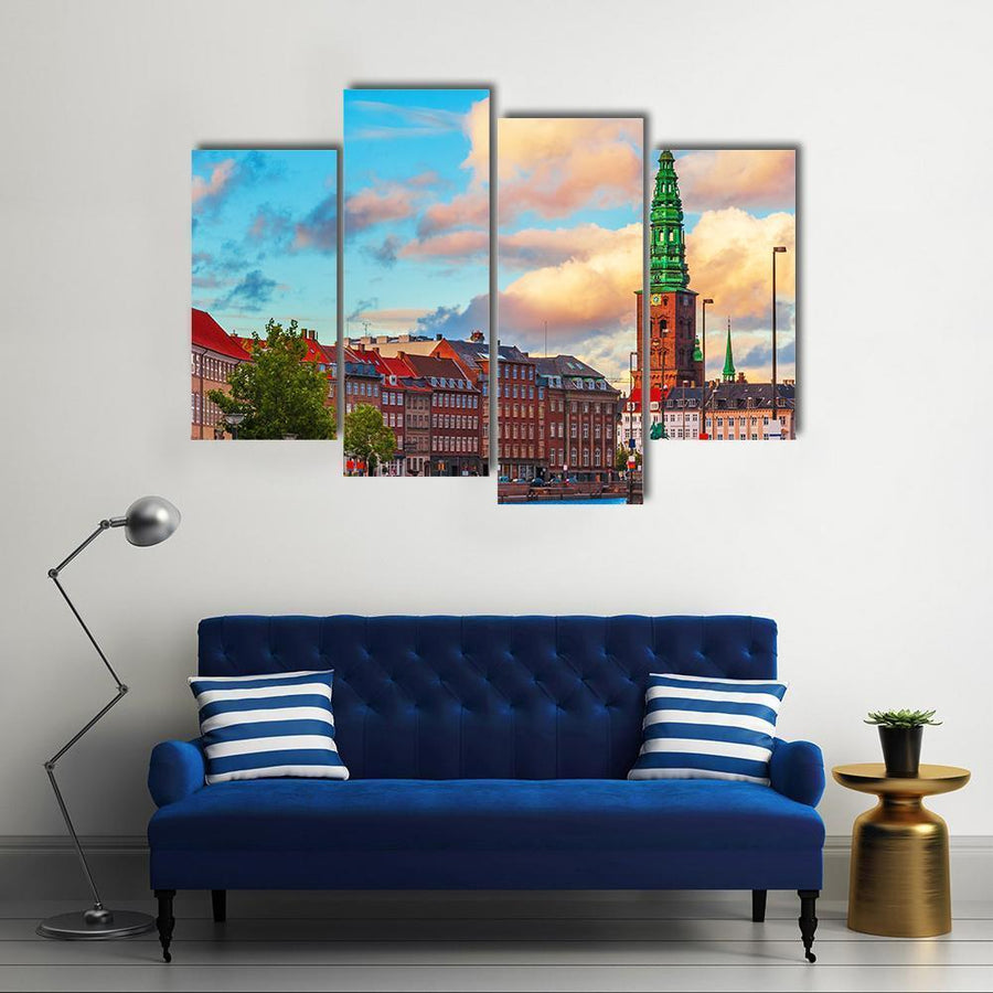 Summer Sunset In The Old Town Of Copenhagen Canvas Panel Painting Tiaracle