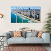 Sunny View Of Gold Coast In Queensland Multi Panel Canvas Wall Art-5 Horizontal-Small-Gallery Wrap-Tiaracle